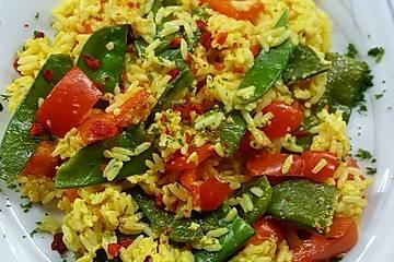 Tanjas gebratener Reis mit Gemüse