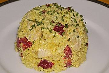 Hirse - Curry - Salat
