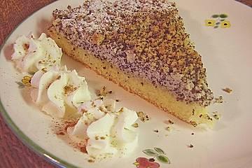 Mohnstreusel - Hefeteig - Kuchen