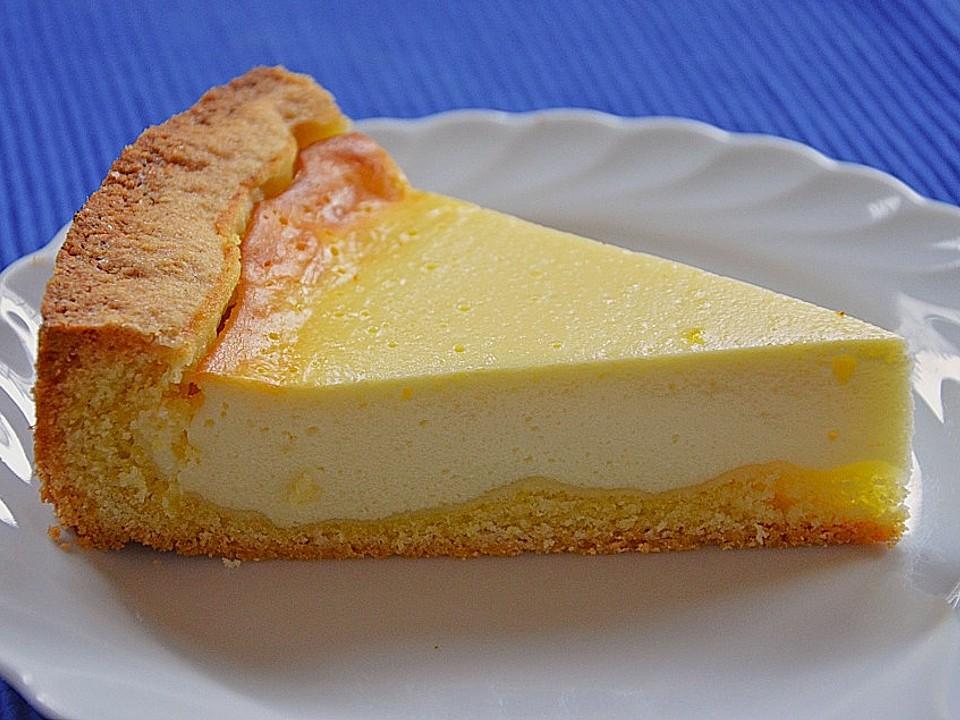 Käsekuchen mit 500g quark und vanillepudding ohne boden