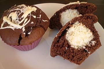 Schoko - Muffins mit Kokos - Herz