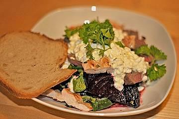 Warmer Rote Bete Salat mit Steak