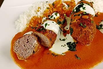 Curry - Kebab oder Indische Fleischbällchen in Currysoße