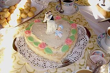 Pfirsich - Sahne - Torte