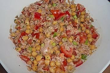 Kichererbsen - Salat mit Thunfisch