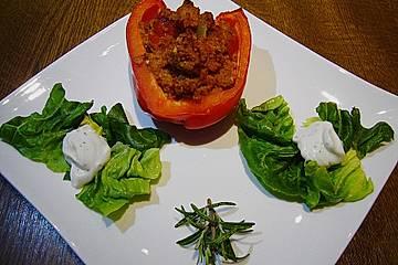 Paprika mit Tomaten - Couscous - Füllung