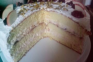 Apfelmus - Sahne - Torte