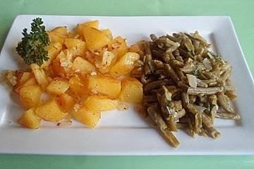 Bratkartoffeln mit Käsebohnen