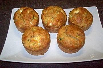 Zucchinimuffins mit Schafskäse