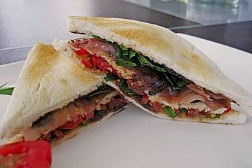 Rucola - Parmaschinken - Sandwich