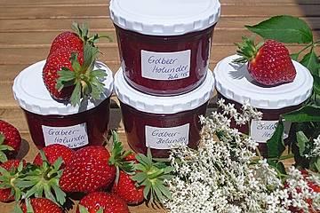 Erdbeer - Holunderblütensirup - Konfitüre