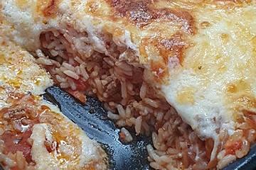 Hack-Reis-Auflauf