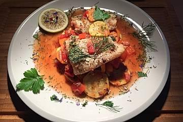 Fisch im Gemüsebett