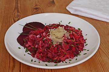 Sauerkrautsalat mit Rote Bete