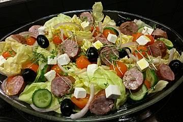 Bratwurstsalat Hellas