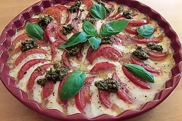 Tomaten - Mozzarella - Gratin