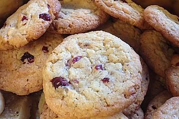 Urmelis weiße Schokolade - Cranberry - Haferflocken - Cookies
