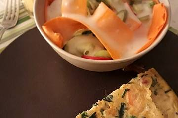 Buntes Gemüse - Omelett