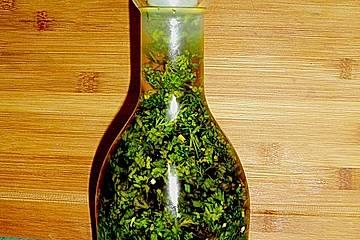 Kräuter in Olivenöl