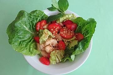 Fletchers Erdbeer - Bananen - Salat