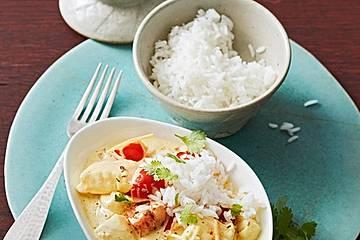 Indisches Fisch-Kokos-Curry