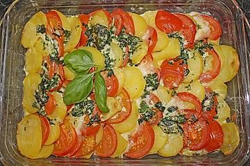 Kartoffel - Tomaten - Mozzarella - Gratin
