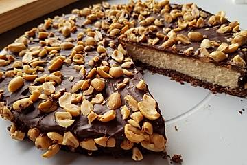 All american Chocolate and Peanut Butter Cheesecake