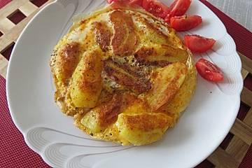 Asiatisches Omelette mit Kartoffeln