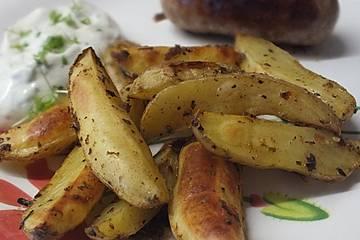 Knusprige Kartoffel - Wedges vom Blech