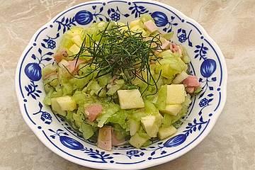Gurkensalat mit Apfel