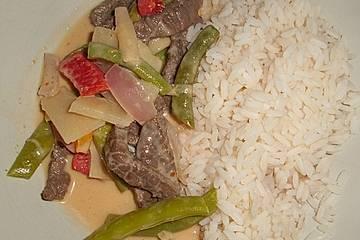 Thailändisches Rindfleisch