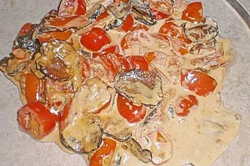 Trüffel - Tomaten - Ragout mit Bandnudeln