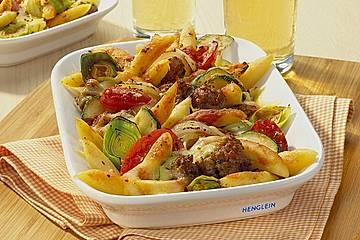 Schupfnudel - Hackfleisch - Auflauf mit Gemüse