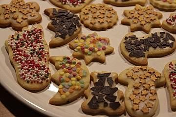 Plätzchen Verzieren Weihnachten.Mürbeteig Plätzchen