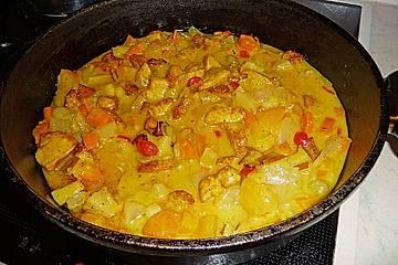 Hähnchengeschnetzeltes mit fruchtiger Currysoße