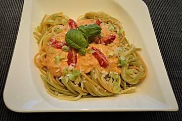 Spaghetti mit würziger Brunch - Sauce