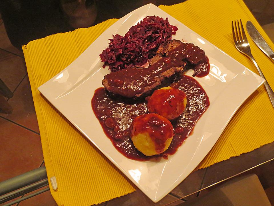 Sauerbraten Braten Rezepte Chefkochde