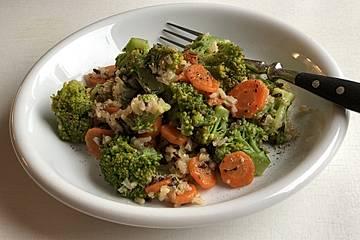 Brokkoli - Möhren - Pfanne mit süß - scharfer Note