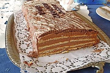 Butterkekskuchen mit Mascarpone