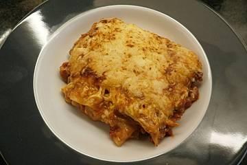 Lasagne ohne Bechamel