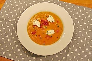 Feine Kartoffel - Karotten - Suppe