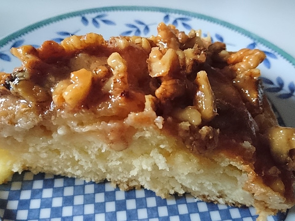 Apfelkuchen Mit Walnuss Karamell Von Douceur Chefkoch