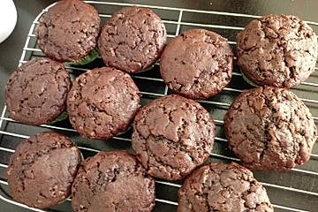 Saftige Schoko - Bananen - Muffins