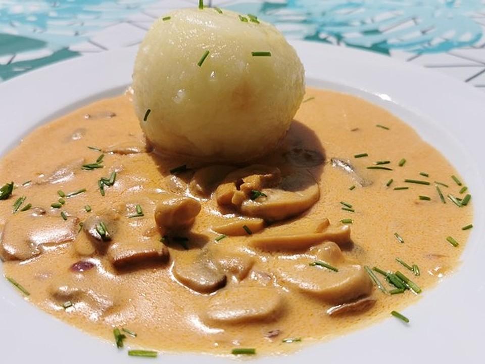 hackbällchen in champignon rahm sauce
