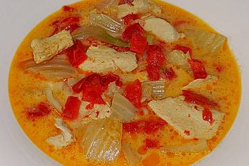 Fenchel - Paprika - Sahnegeschnetzeltes