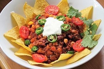Vegetarisches Chili mit Bulgur