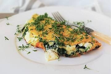 Spinat-Käse-Omelett