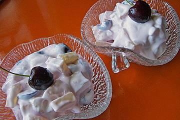 Quark Dessert mit Früchten