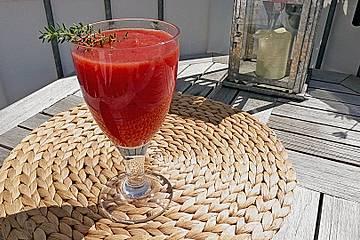 Feurige Melonen - Tomaten - Kaltschale