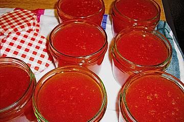 Aprikosenmarmelade nur mit Zucker